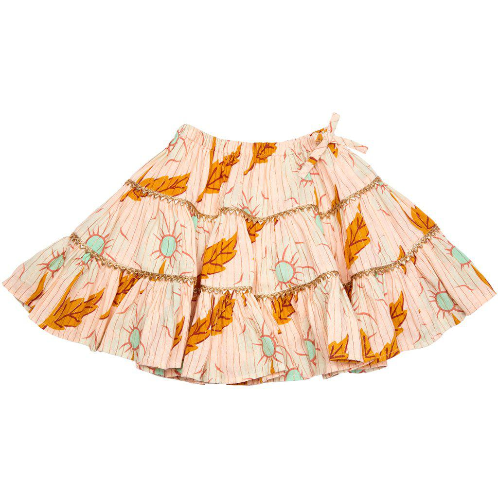 View larger version of Pink Chicken Allie Skirt 2y cloud pink diagonal flower - 19spc214a
