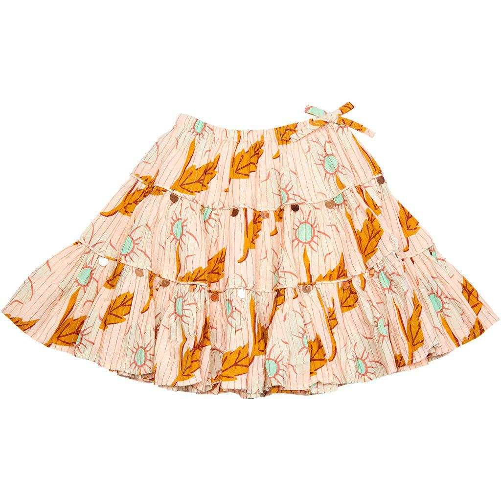 Pink Chicken Allie Skirt 2y cloud pink diagonal flower - 19spc214a