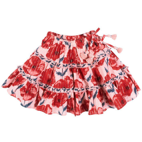 Pink Chicken Allie Skirt 2y 19ffpc214b - crystal rose floral