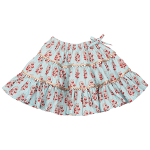 Pink Chicken Allie Skirt 2y milky blue vintage floral