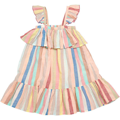 Pink Chicken Amalia Dress 2y multi vintage stripe - 19spc284a