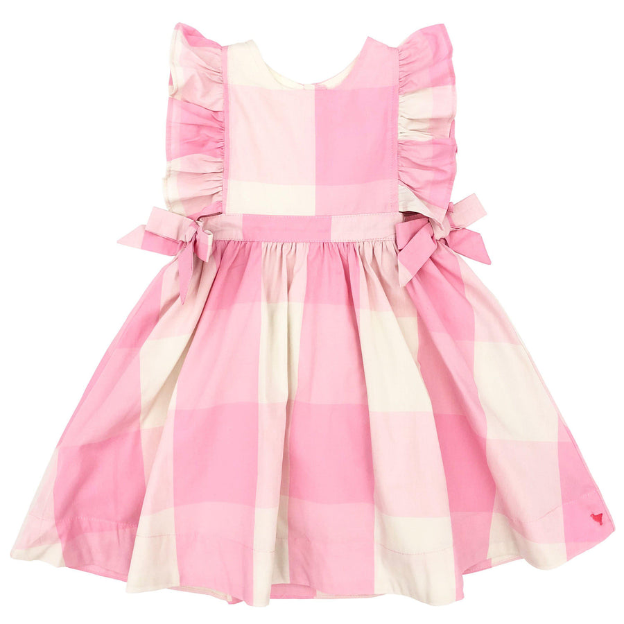 Pink Chicken Amy Dress 2y sea pink gingham - 20espc237a