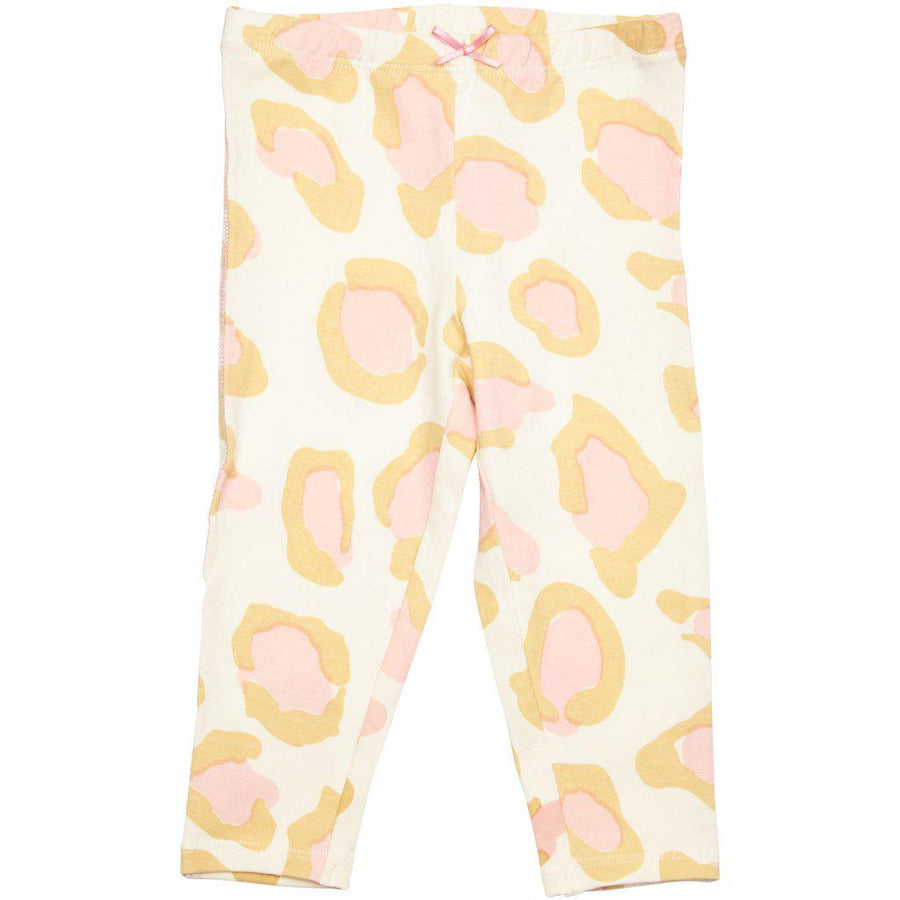 Pink Chicken Ankle Legging 2y antique white oversized leopard - 19spc503a