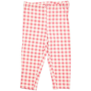 Pink Chicken Ankle Legging 2y dusty rose gingham - 19spc503d