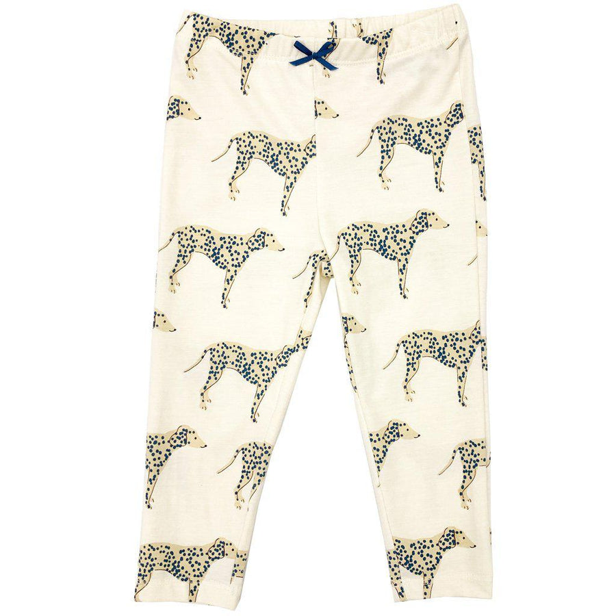 Pink Chicken Ankle Legging 2y antique white dalmatian - 19spc503b