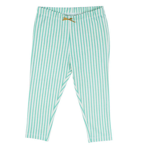 Pink Chicken Ankle Legging 2y dusty jade green skinny stripe - 19sspc503g
