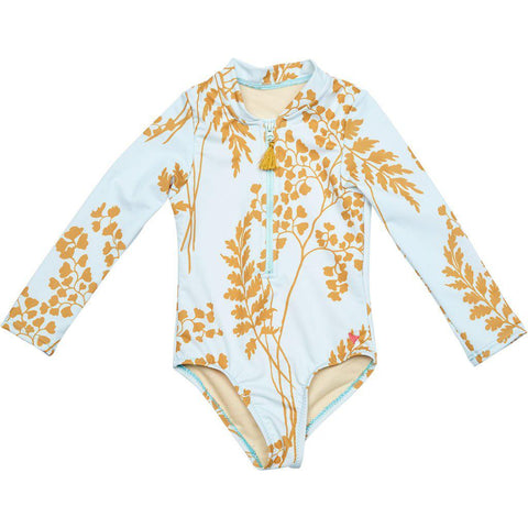Pink Chicken Arden Suit 2y wan blue oversized fern - 19spcs122a