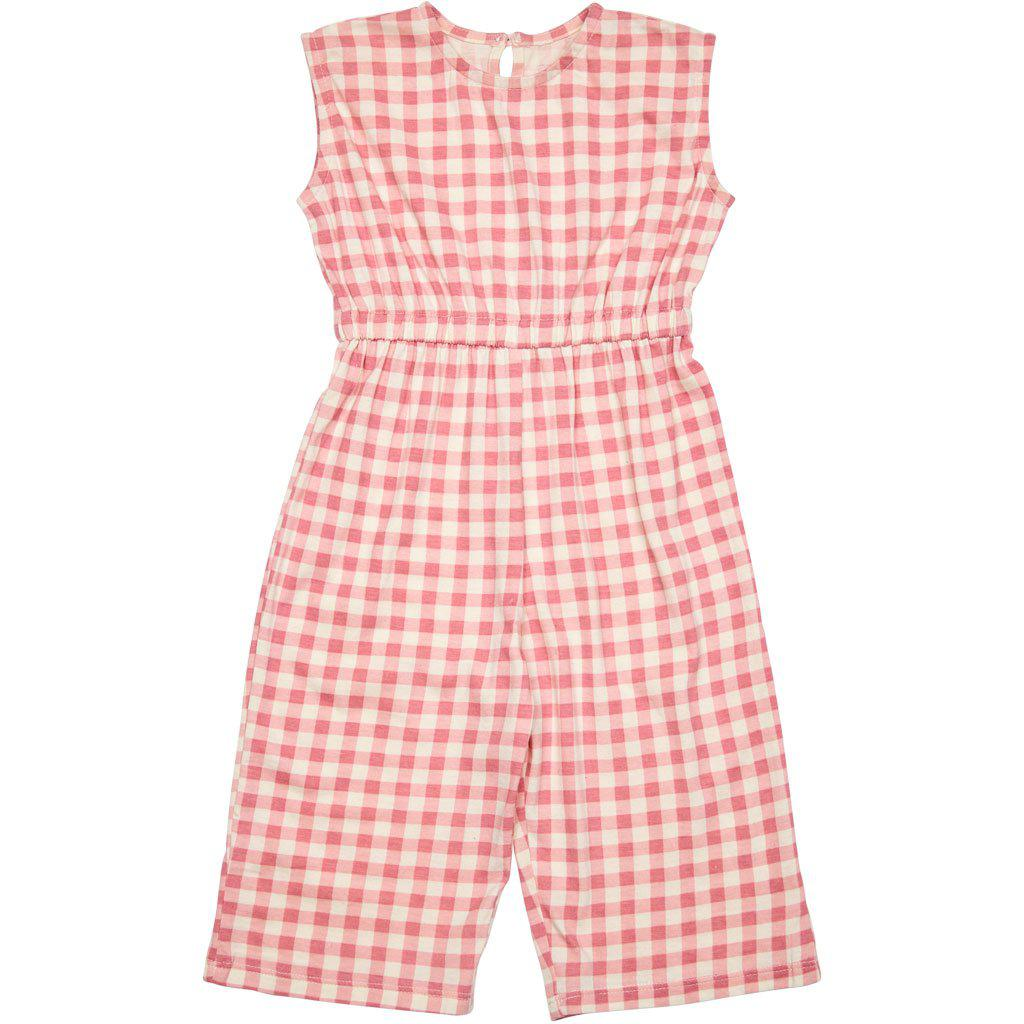 Pink Chicken Astrid Jumper 3/6m dusty rose gingham - 19spcb879a