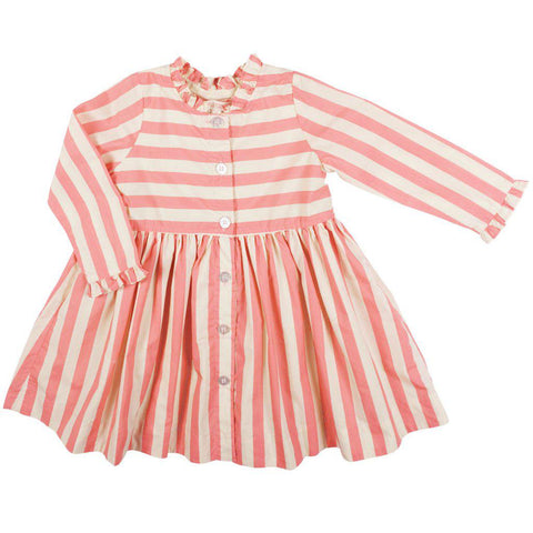 Pink Chicken Autumn Dress 2y mauveglow stripe - 19fpc333a