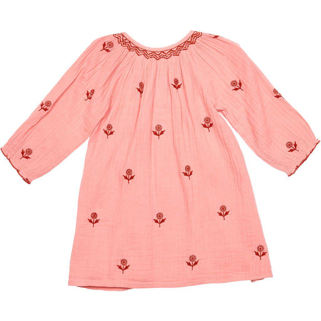 View larger version of Pink Chicken Ava Dress 2y peach blossom w/embroidery - 19spc136b