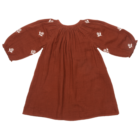 Pink Chicken Ava Dress 2y arabian spice w/ embroidery