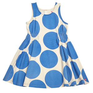 Pink Chicken Avery Dress 2y palace blue oversized dots - 17spc437a