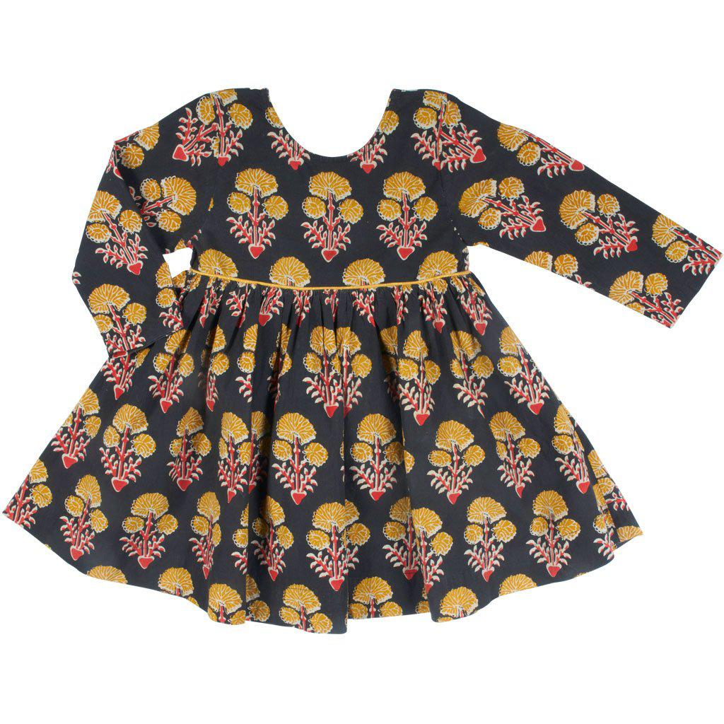 View larger version of Pink Chicken Baby Amma Dress 3/6m 19ffpcb520c - black medallion floral