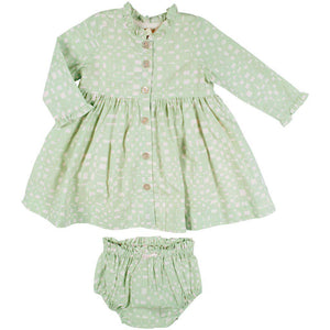 Pink Chicken Autumn Dress Set 3/6m 19ffpcb529b - frosty green abstract plaid