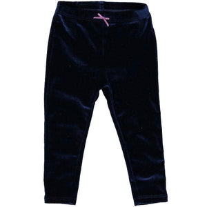 Pink Chicken Baby Velour Legging 3/6m 19ffpcb831m - navy velour