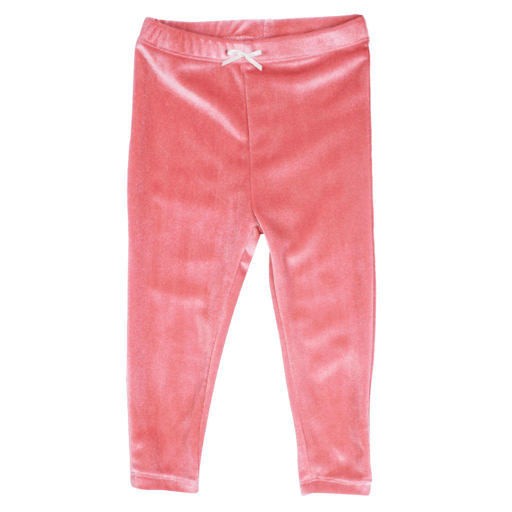 Pink Chicken Baby Velour Legging 3/6m 19ffpcb831h - rapture rose velour