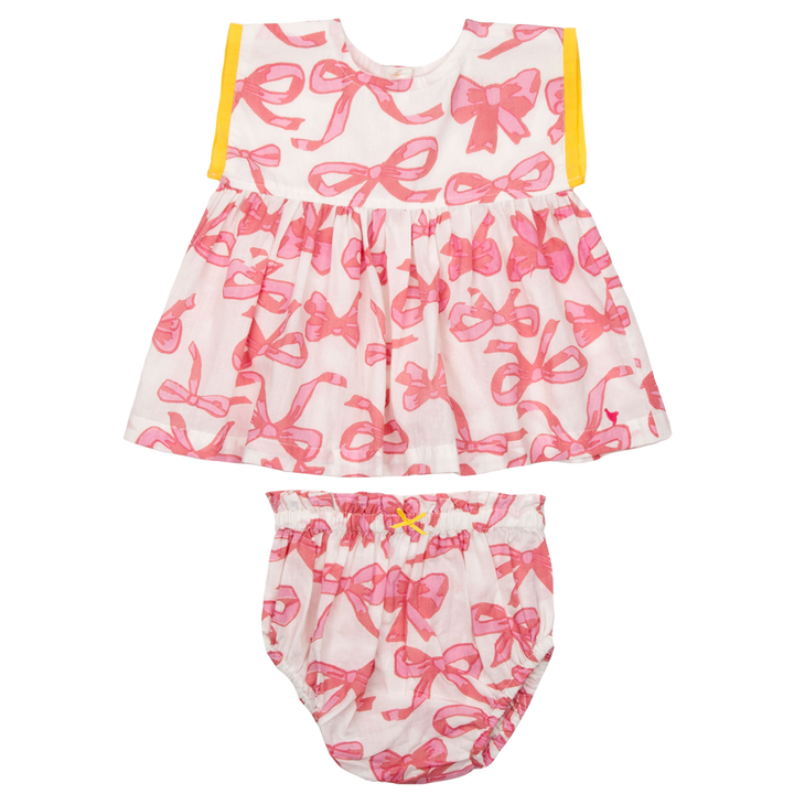 Pink Chicken Niley 2-Piece Set 3/6m mauveglow bows