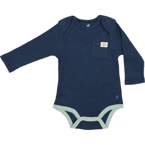 Pink Chicken Oliver Thermal Bodysuit 3/6m navy