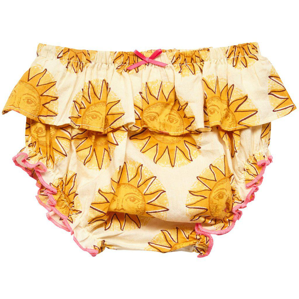 Pink Chicken Ruffle Diaper Cover xs/s antique white sun - 18sspcn922d