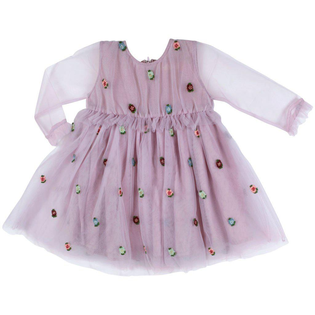 Pink Chicken Baby Sienne Dress 3/6m 19ffpc519a - lavender tulle