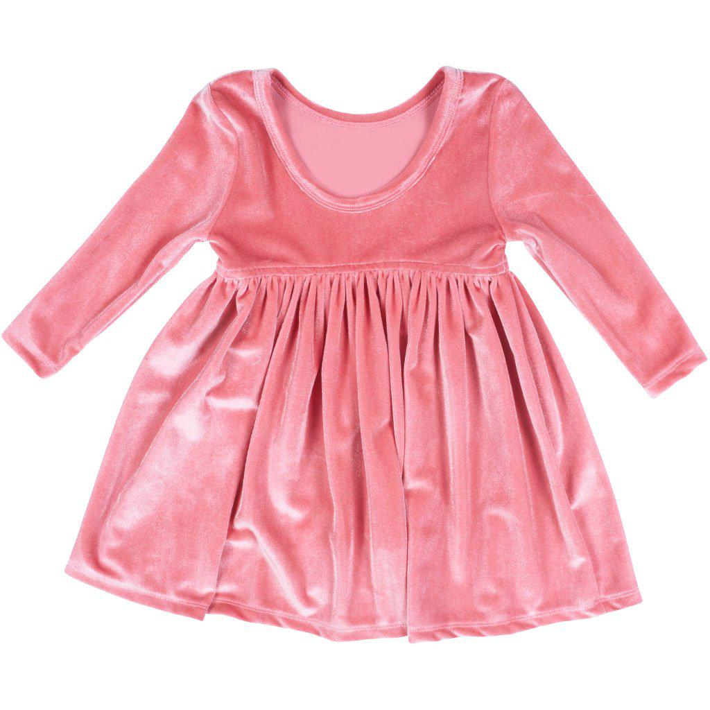View larger version of Pink Chicken Baby Steph Dress 3/6m 19ffpcb513a - rapture rose velour