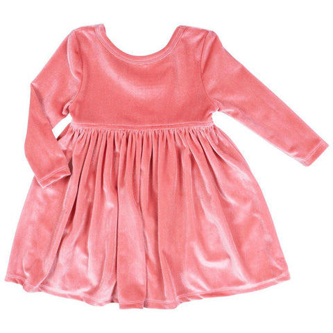 Pink Chicken Baby Steph Dress 3/6m 19ffpcb513a - rapture rose velour