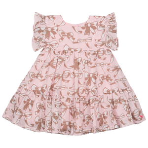 Pink Chicken Baby Kit Dress 3/6m strawberry cream bows