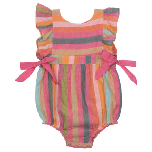 Pink Chicken Amy Bubble 3/6m multi stripe