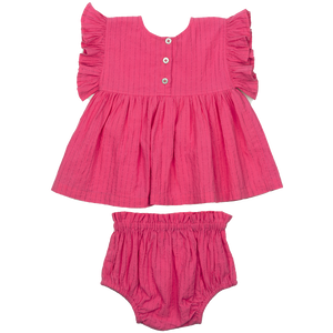 Pink Chicken Kit 2-Piece Set 3/6m shocking pink