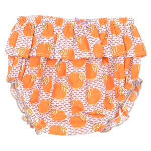 Pink Chicken Ruffle Diaper Cover XS/S nirvana oranges