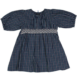 Pink Chicken Bea Dress 3/6m blue/white plaid - 18fpcb905a