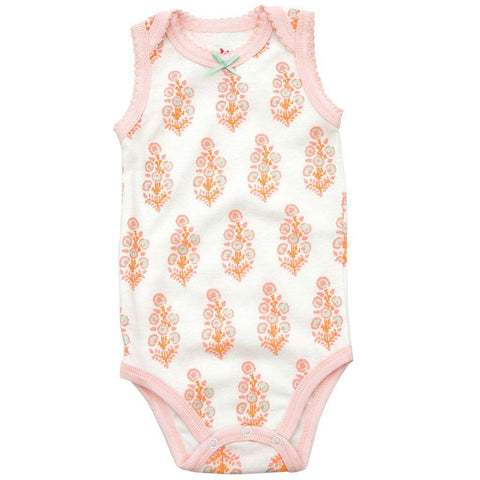 Pink Chicken Bella Bodysuit 0/3m white flower bunch - 18spcn927a