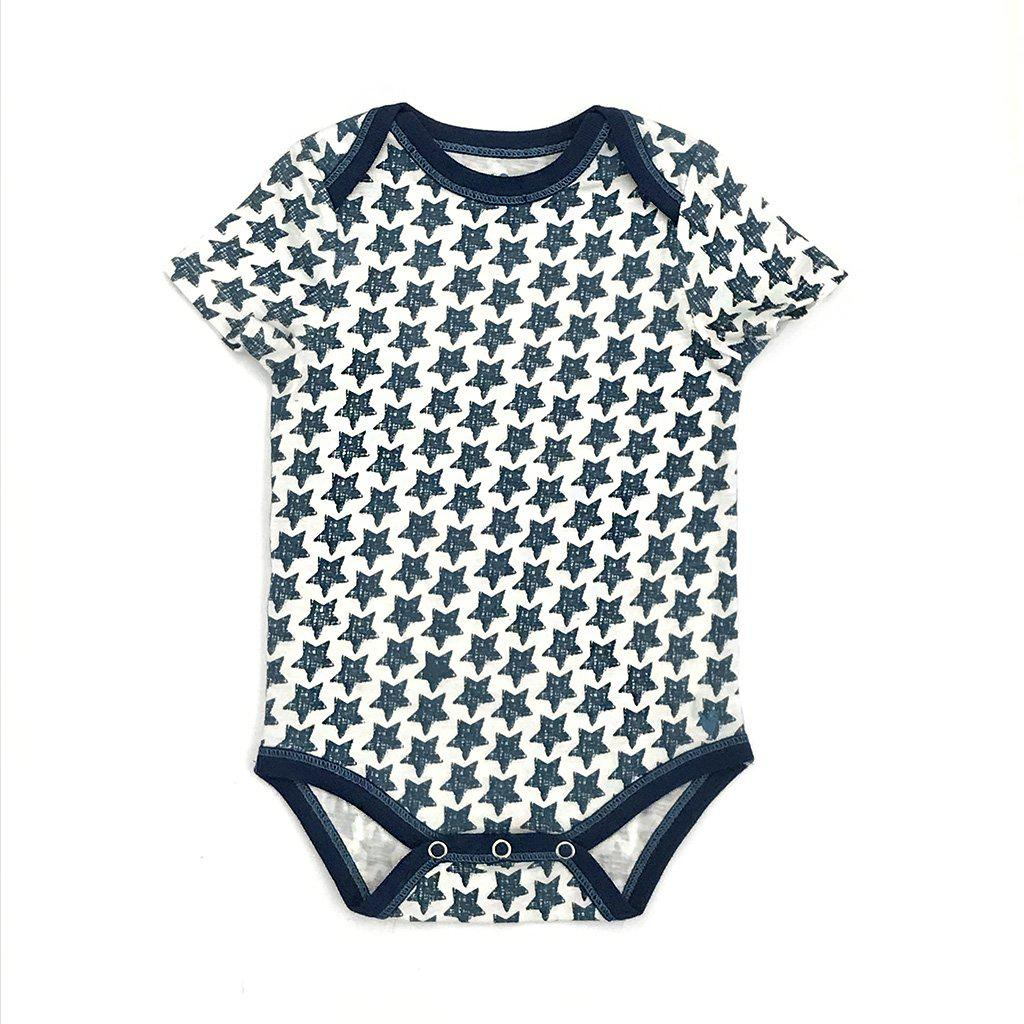 Pink Chicken Oliver Bodysuit 3/6m antique white star - 19subrb210a