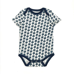 Pink Chicken Oliver Bodysuit 3/6m antique white star
