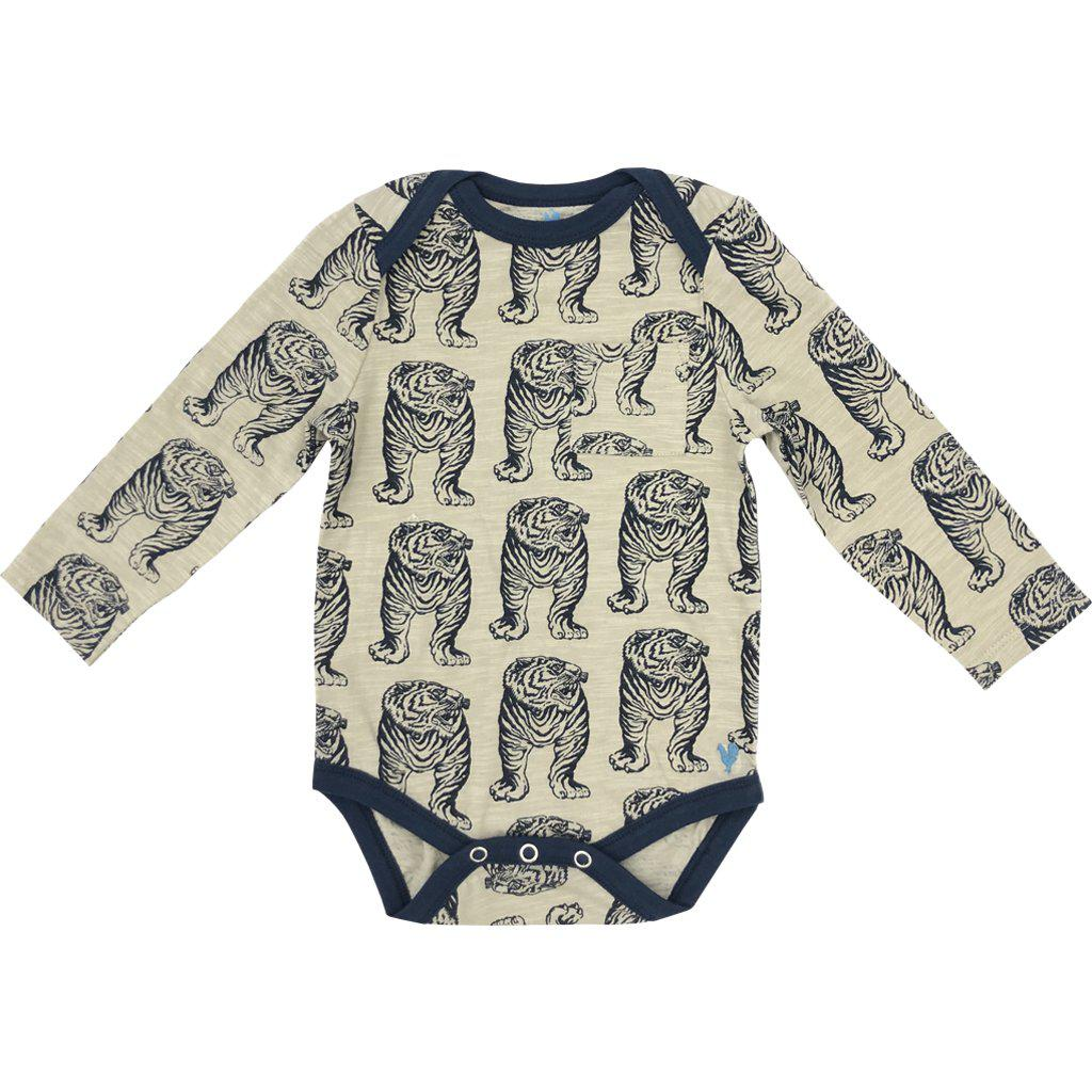 Pink Chicken Oliver Bodysuit 3/6m 19fbrb210b - silver cloud tiger