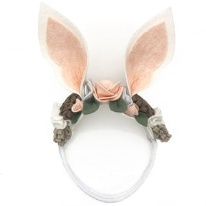 Pink Chicken Bunny Headband - Presell Item