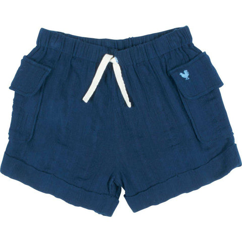 Pink Chicken Caleb Cargo Short 2y dress blues - 19sbr125a