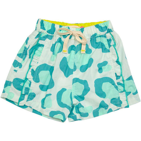 Pink Chicken Camp Short 2y milky green oversized leopard - 19spc115b
