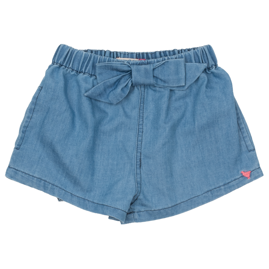 Pink Chicken Camp Bow Short 2y chambray
