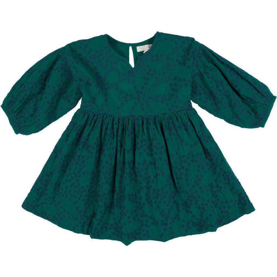 Pink Chicken Celeste Dress 2y evergreen w/embroidery - 19fpc274a