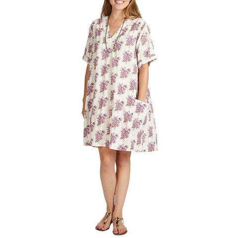 Pink Chicken Cheyenne Dress xs lavender floral - 19sspcw182c