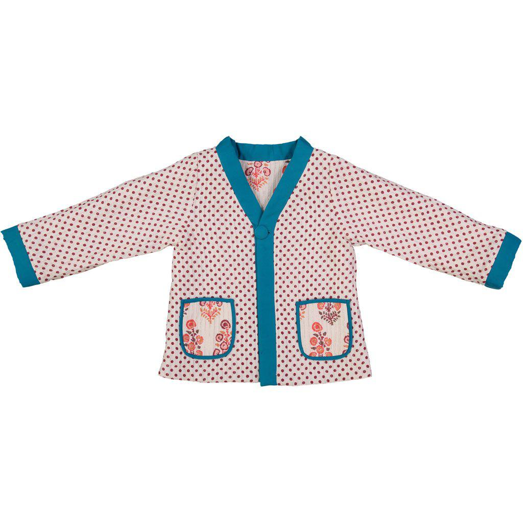 View larger version of Pink Chicken Coco Quilted Jacket 2/3y angora white flower bunch - 18ffpc275b