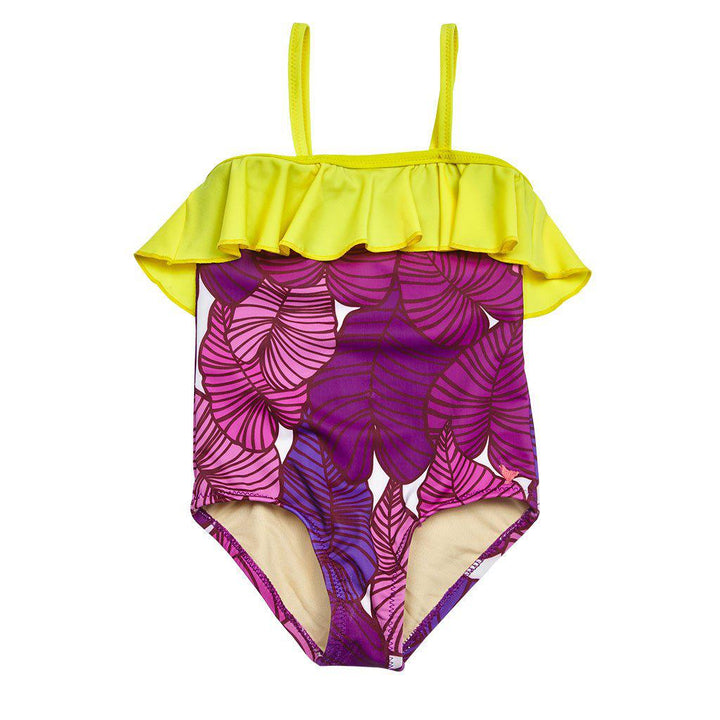 Pink Chicken Coco Suit 2y purple tropical leaves - 17sspcs109b