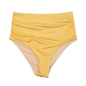 Pink Chicken Courtney Tankini Bottom XS yolk yellow stripe
