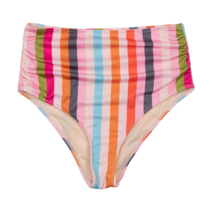 Pink Chicken Courtney Tankini Bottom XS multi stripe