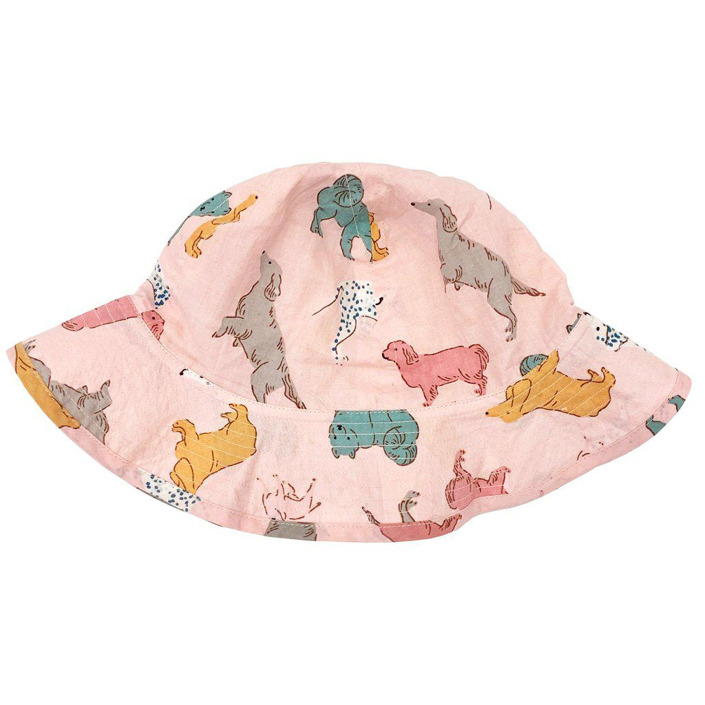 Pink Chicken Sun Hat 6/12m crystal rose dogs - 19spca130a