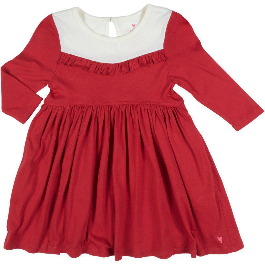 Pink Chicken Dori Dress 2y tango red/antique white - 19fpc341a