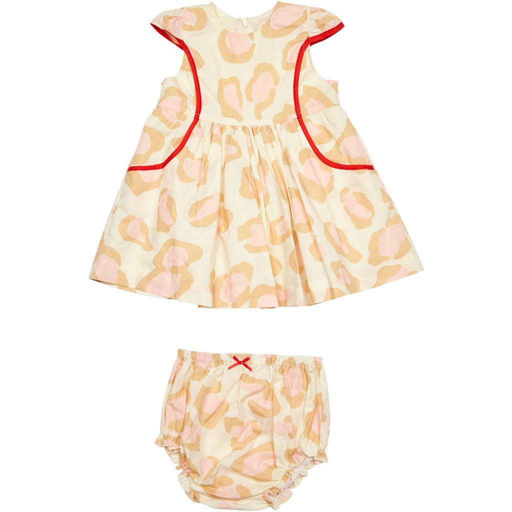 View larger version of Pink Chicken Eden 2-Piece Set 3/6m antique white oversized leopard - 19spcb539a