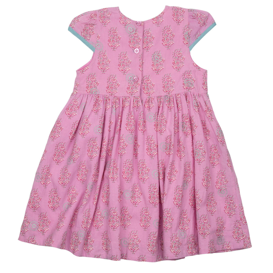 Pink Chicken Eden Dress 2y cyclamen pink vintage floral - 20espc313a