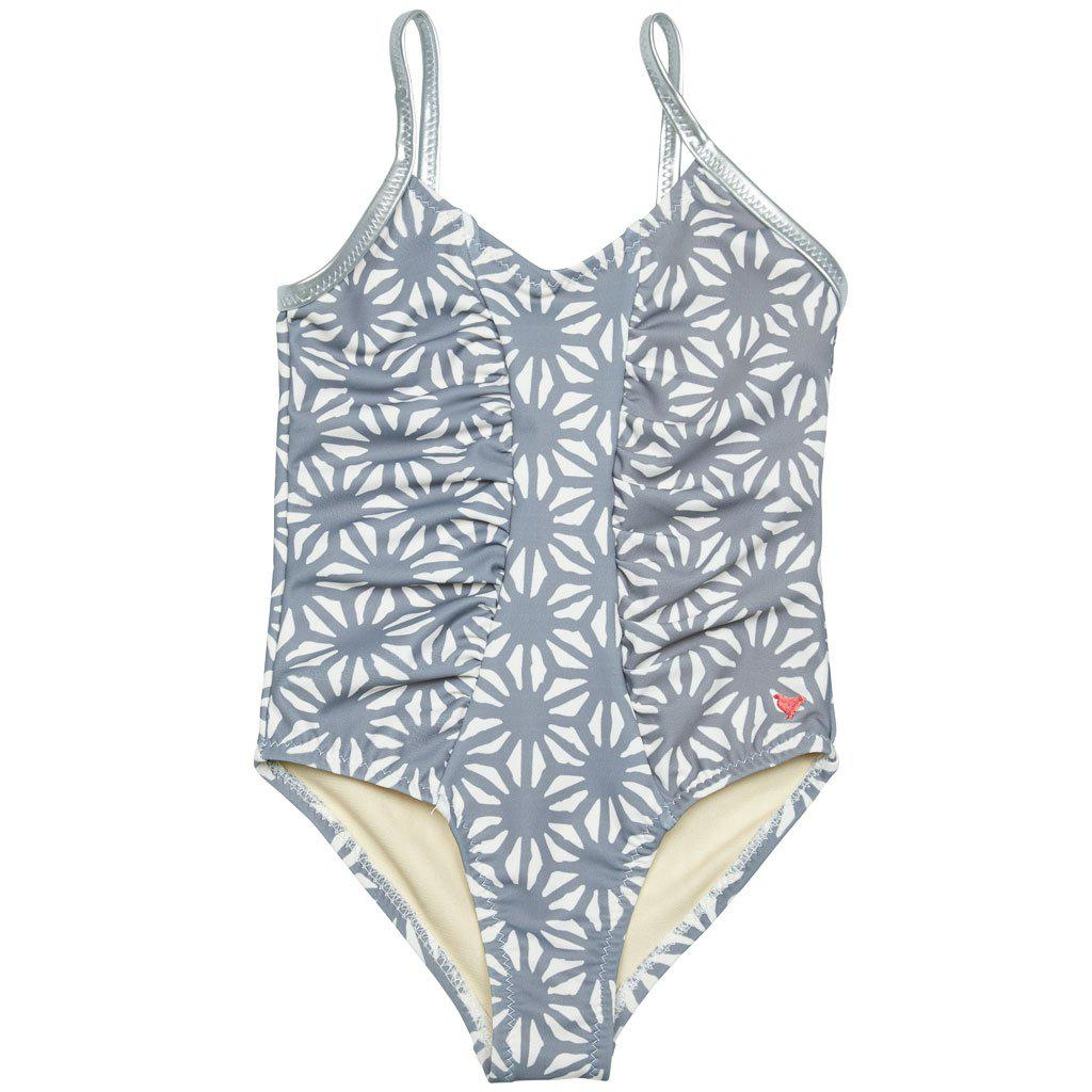 Pink Chicken Effie one-piece bathing suit in monument tile mosaic print